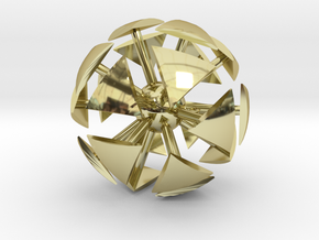 ExplodingSoccerBall in 18K Gold Plated