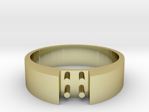 4-bit ring (US8 /⌀18.2mm) in 18K Gold Plated