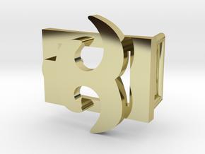 AKOKO NAN BELT BUCKLE in 18K Gold Plated