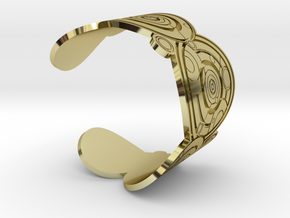 The Doctor's name (Engraved): Cuff - size L in 18K Gold Plated