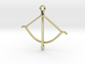 bow pendant 2 in 18K Gold Plated