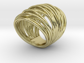 38mm Wide Wrap Size 5  in 18K Gold Plated