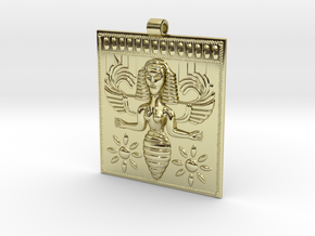 Etruscan Bee Goddess Pendant in 18K Gold Plated