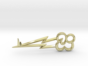 """Rainbow Dash's Key of Loyalty (≈75mm/3"""" long) in 18K Gold Plated"""