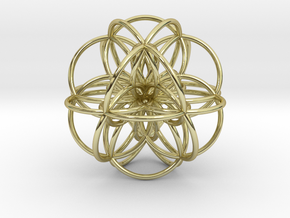 Seed of Life: Cuboctahedral Flower in 18K Gold Plated