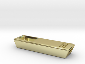 Solid Gold Bar Pipe - Tobacco Herb Smoking Pipe in 18K Gold Plated