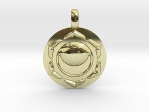 SACRAL SWADHISTANA Chakra Symbol Pendant in 18K Gold Plated