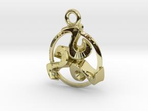 Triskele celtic pendant in 18K Gold Plated