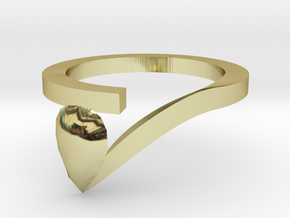 Pear Shaped Diamond Ring in 18K Gold Plated