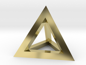 Hollow Pyramid Pendant in 18K Gold Plated