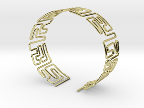 Maze Bracelet Size M in 18K Gold Plated