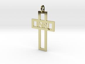 Cruz elegante INRI Ouro 18K in 18K Gold Plated