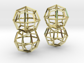 Deltoidal Icositetrahedron Earrings in 18K Gold Plated