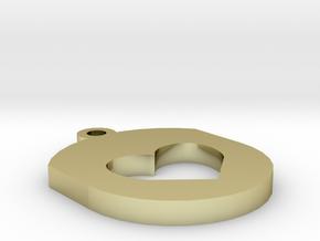 Heart Insert For Circular Frame Pendant in 18K Gold Plated