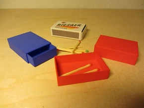 Streichholzschachtel / Matchbox in White Natural Versatile Plastic