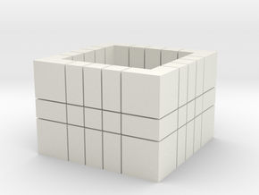 5x5x3 (Read Description)  in White Natural Versatile Plastic