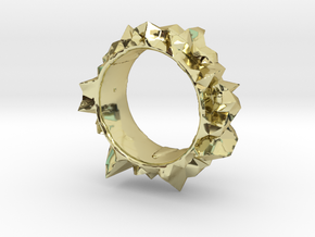 Facets Ring - Part 2 (Size 7) in 18K Gold Plated