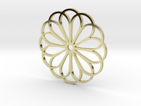 Moroccan Rose Pendant in 18K Gold Plated