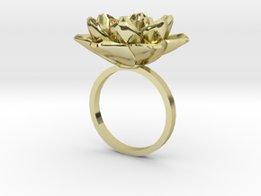 Rose Ring 17.3mm in 18k Gold Plated Brass: 5 / 49