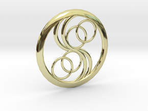 Double Yin Pendant in 18K Gold Plated