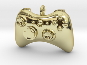 Xbox 360 Controller Pendant (Large) in 18K Gold Plated