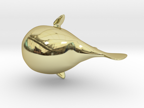 Puffer Fish Bath Toy in 18K Gold Plated