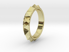 Pyramid Ring in 18K Gold Plated