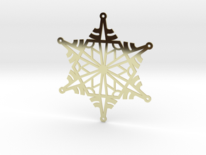 Arcs Snowflake - Flat in 18K Gold Plated