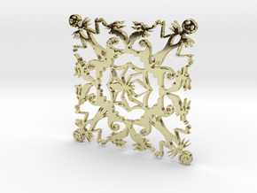 Nightmare Snowflake in 18K Gold Plated