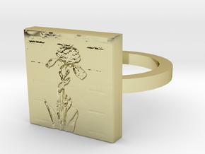 Iris Flower Ring in 18K Gold Plated