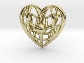 Awakened Heart Pendant in 18K Gold Plated