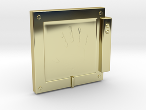 """Handscanner for 4"""" figures (3 3/4"""" or 1:18 scale) in 18K Gold Plated"""
