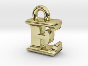 3D Monogram Pendant - EIF1 in 18K Gold Plated