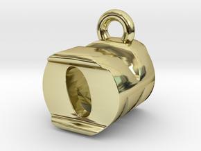 3D Monogram Pendant - OMF1 in 18K Gold Plated