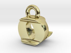 3D Monogram Pendant - OLF1 in 18K Gold Plated