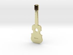 Guitar Pendant in 18K Gold Plated