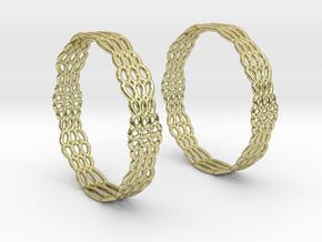Wired Beauty 2 Hoop Earrings 50mm in 18K Gold Plated