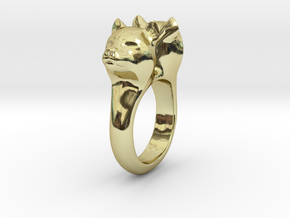 Bobcat Ring in 18K Gold Plated