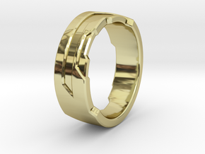 Ring Size F in 18K Gold Plated