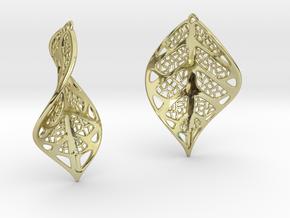 Leaf earrings in 18K Gold Plated