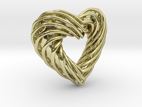 Pendant_SPH Curve Heart in 18K Gold Plated
