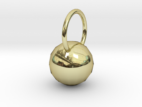 Low Res Disco Sphere Pendant in 18K Gold Plated