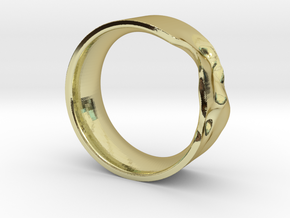 The Crumple Ring - 19mm Dia in 18K Gold Plated