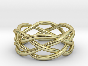 Dreamweaver Ring (Size 8.5) in 18K Gold Plated