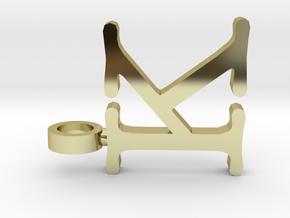 K letter Pendant in 18K Gold Plated
