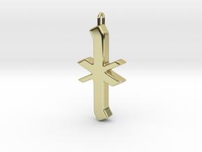 Rune Pendant - Īor in 18K Gold Plated