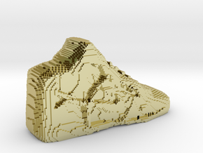 Pixelated Basketball Shoe by Suprint in 18K Gold Plated