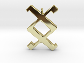 Rune Pendant - Ing in 18K Gold Plated