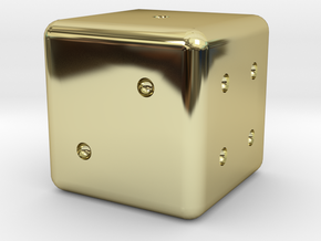 Normal Dice in 18K Gold Plated