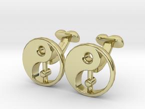 Karma Cufflinks, Part of NEW Spirit Range in 18K Gold Plated